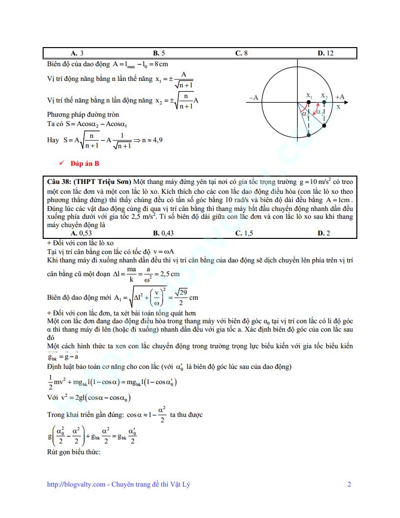 Chinh phục điểm 7-8-9 phần dao động cơ của thầy Bùi Xuân Dương