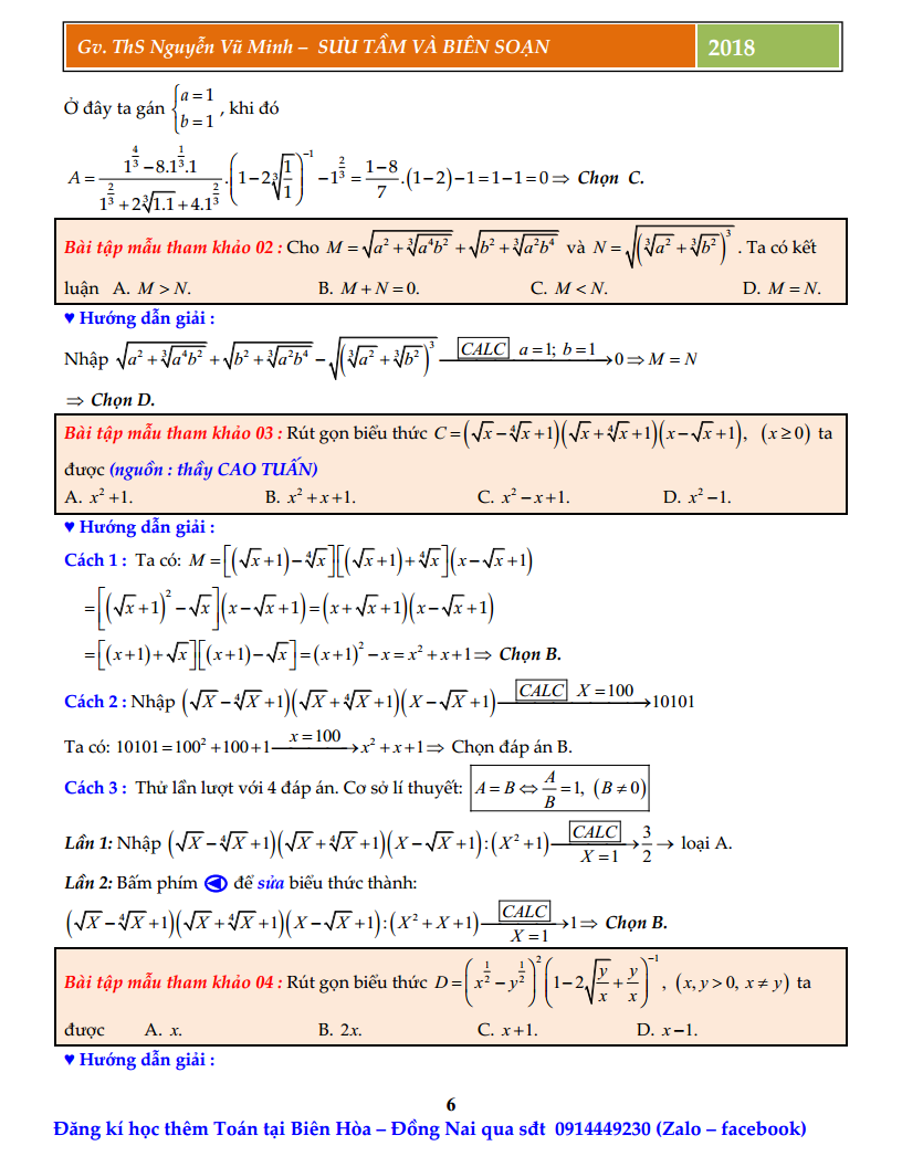 Chuyên đề mũ và logarit - Phân loại dạng và phương pháp giải nhanh