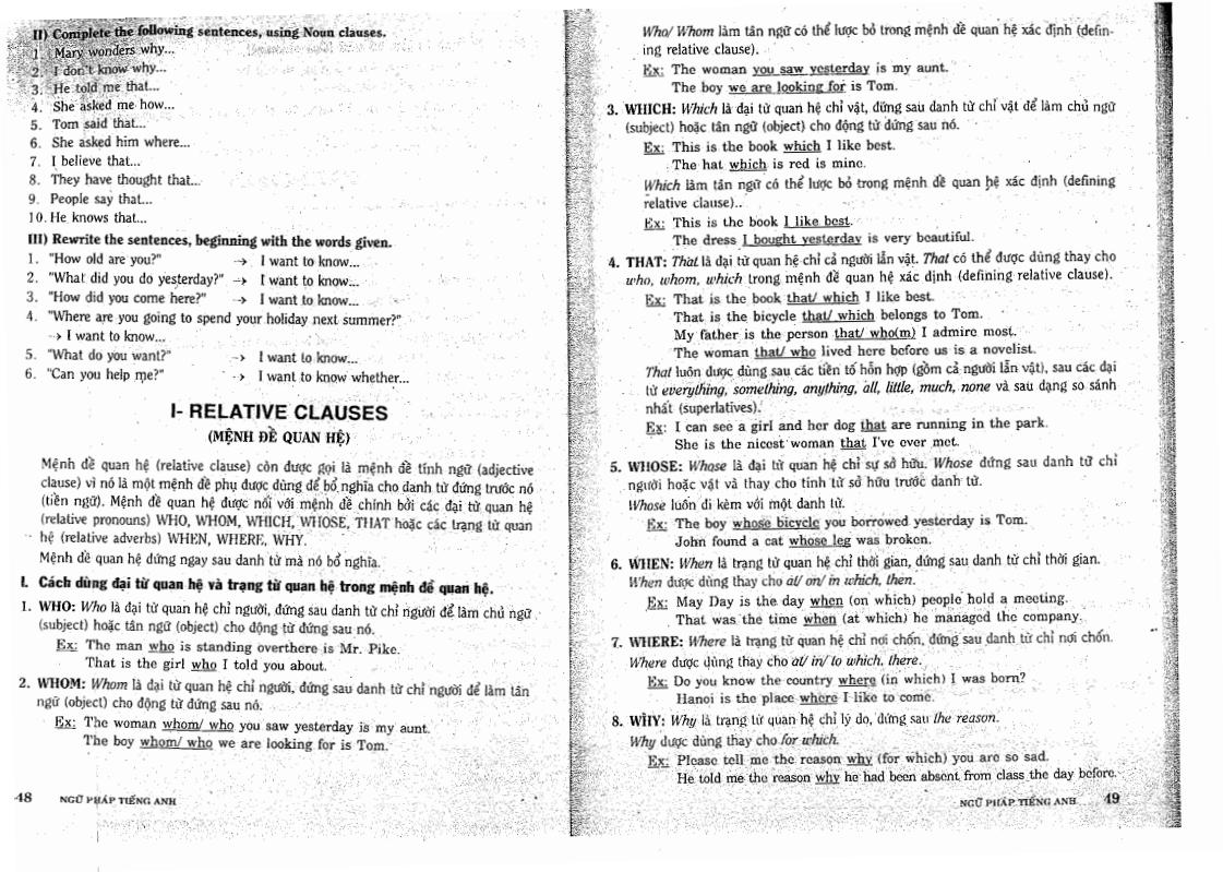 Ngữ pháp Tiếng Anh - tài liệu ôn thi THPT Quốc Gia