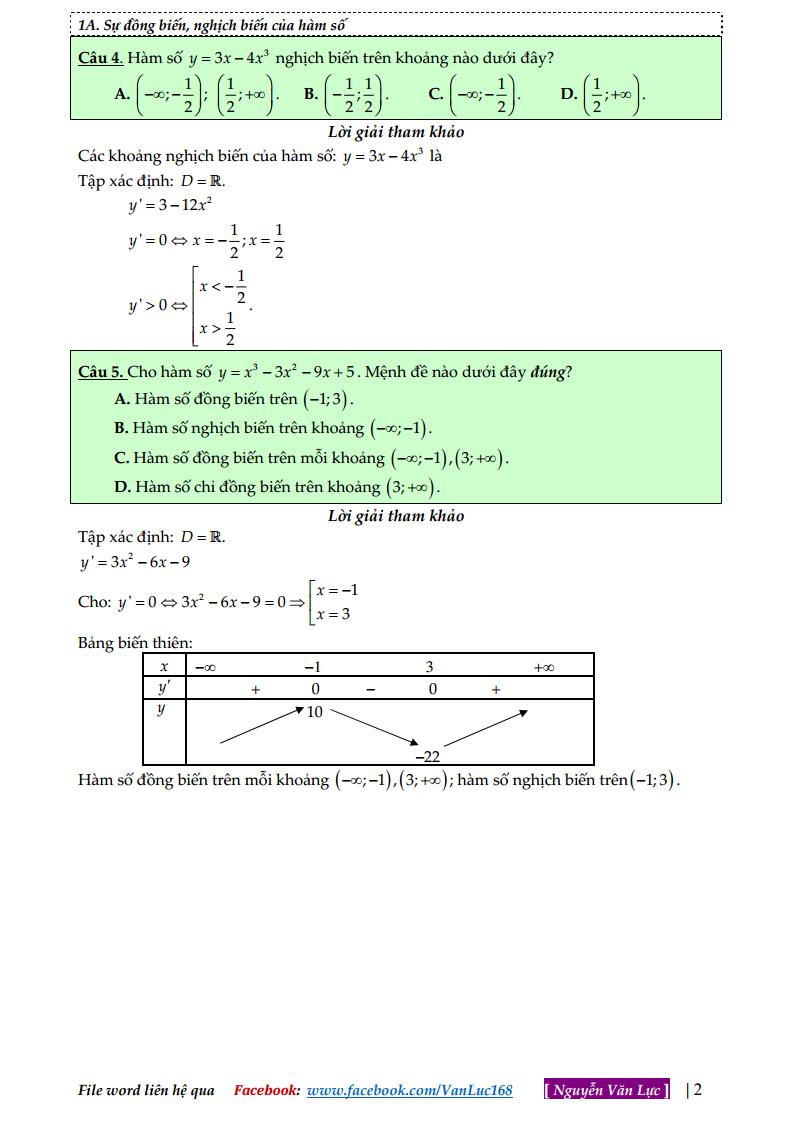 Bài tập trắc nghiệm tổng hợp lớp 12 - Có lời giải chi tiết