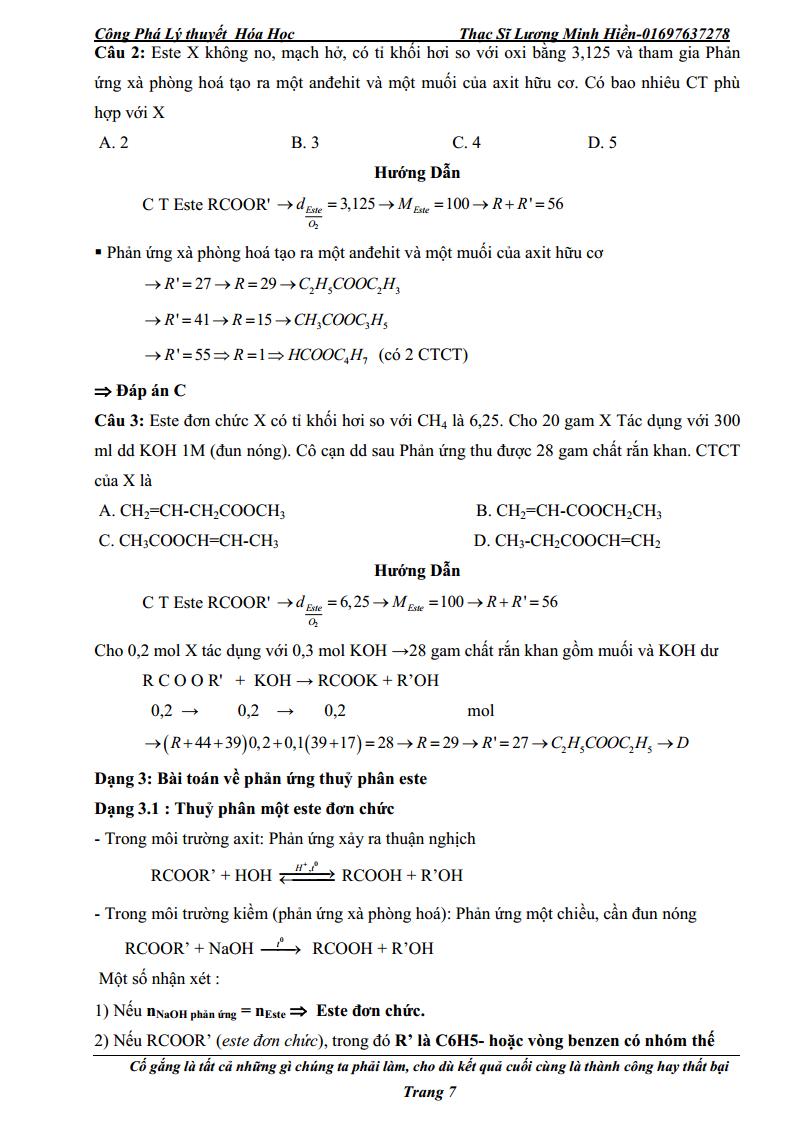 Công phá lý thuyết Hóa học - Lương Minh Hiền
