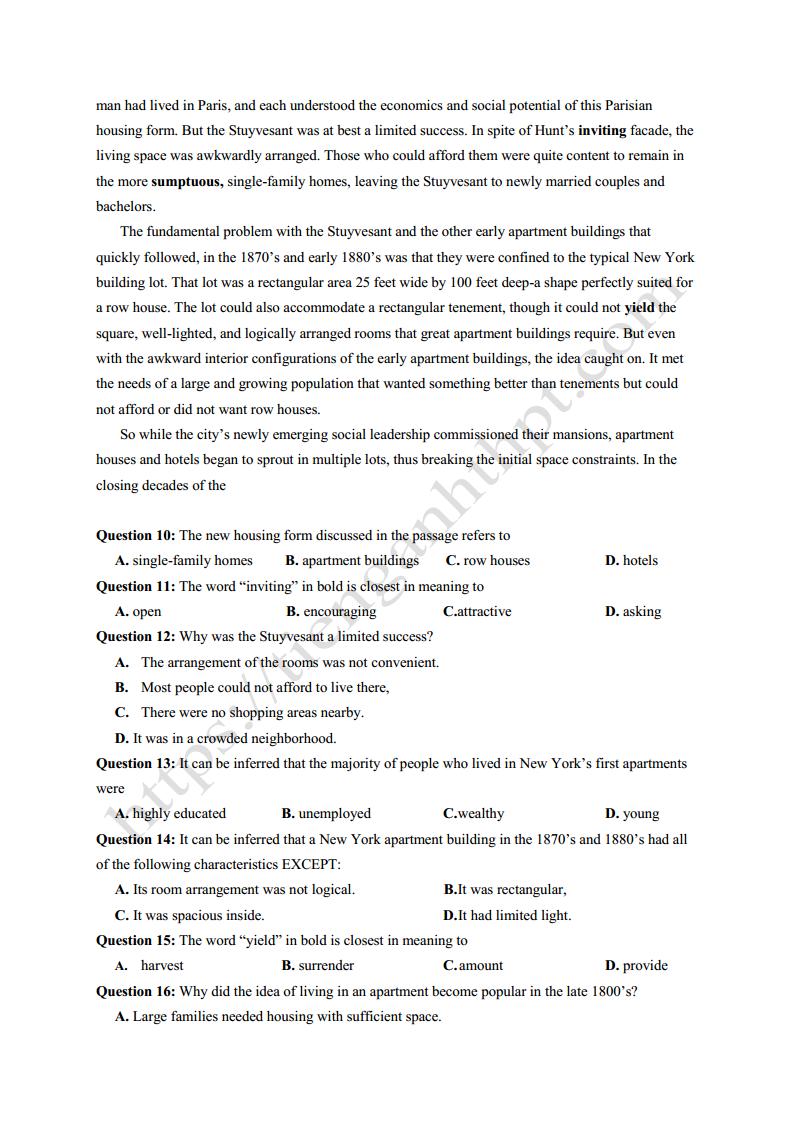 4 mã đề thi thử Tiếng Anh THPT Quốc Gia 2018 - phần 2