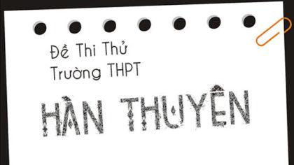 Đề thi thử THPTQG môn Sinh THPT Hàn Thuyên tỉnh Ninh Bình năm 2018