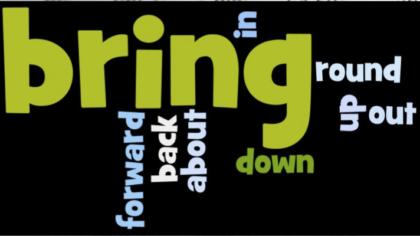 Phrasal Verbs - Bring