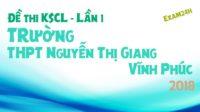 Đề thi KSCL môn Sinh trường THPT Nguyễn Thị Giang – Vĩnh Phúc lần 1