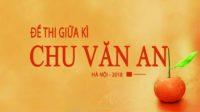 Đề thi giữa kì môn Anh trường THPT Chu Văn An - Hà Nội 2018 Có đáp án