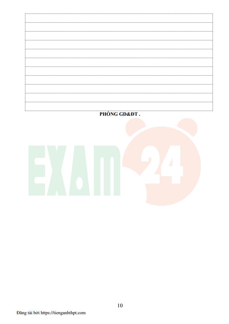 Đề thi HSG tiếng Anh lớp 9 huyện Thạch Hà - Hà Tĩnh 2016 có đáp án