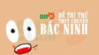 Đề thi thử tiếng Anh trường THPT chuyên Bắc Ninh lần 2 - 2018