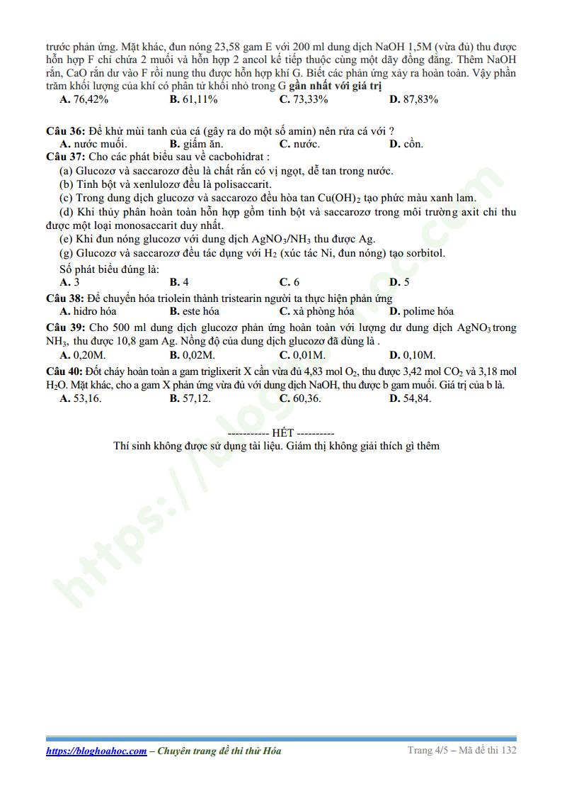 Đề thi KSCL giữa kỳ I trường THPT Lý Thái Tổ - Bắc Ninh lần 1 - 2018 có đáp án và lời giải chi tiết