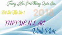 Đề thi thử môn Sinh trường THPT Yên Lạc – Vĩnh Phúc lần 1 – 2018