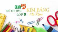 Đề thi chọn HSG tiếng Anh lớp 9 THCS huyện Kim Bảng - Hà Nam
