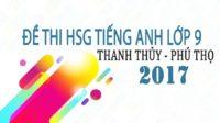 Đề thi chọn HSG lớp 9 THCS huyện Thanh Thủy - Phú Thọ 2017