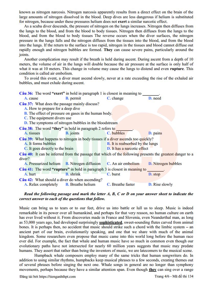 Đề thi thử tiếng Anh trường THPT Ngô Gia Tự - Vĩnh Phúc lần 1 - 2018
