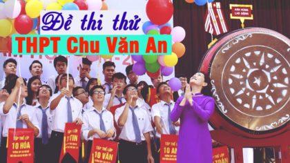 Đề thi HK 1 môn Anh 12 trường THPT Chu Văn An Hà Nội 2018