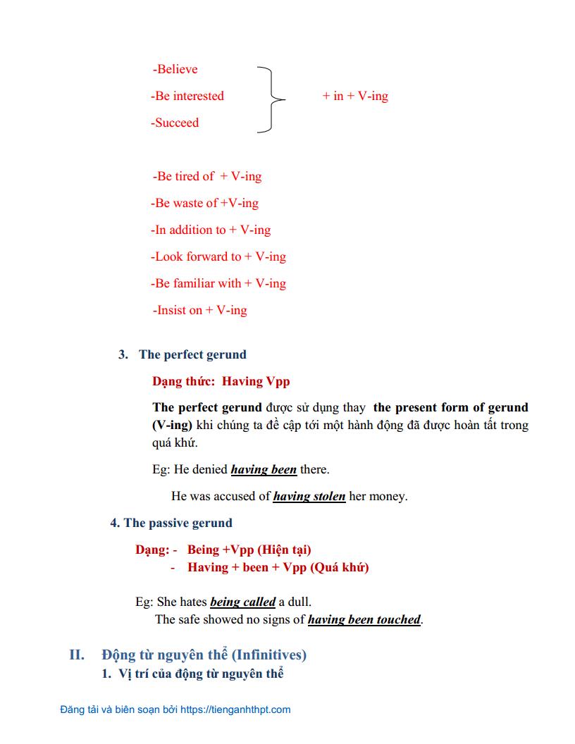 Chuyên đề 4 - Danh động từ và động từ nguyên thể trong Tiếng Anh