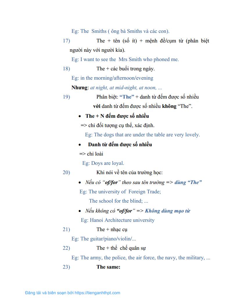 Chuyên đề 6 - Cách sử dụng mạo từ trong tiếng Anh