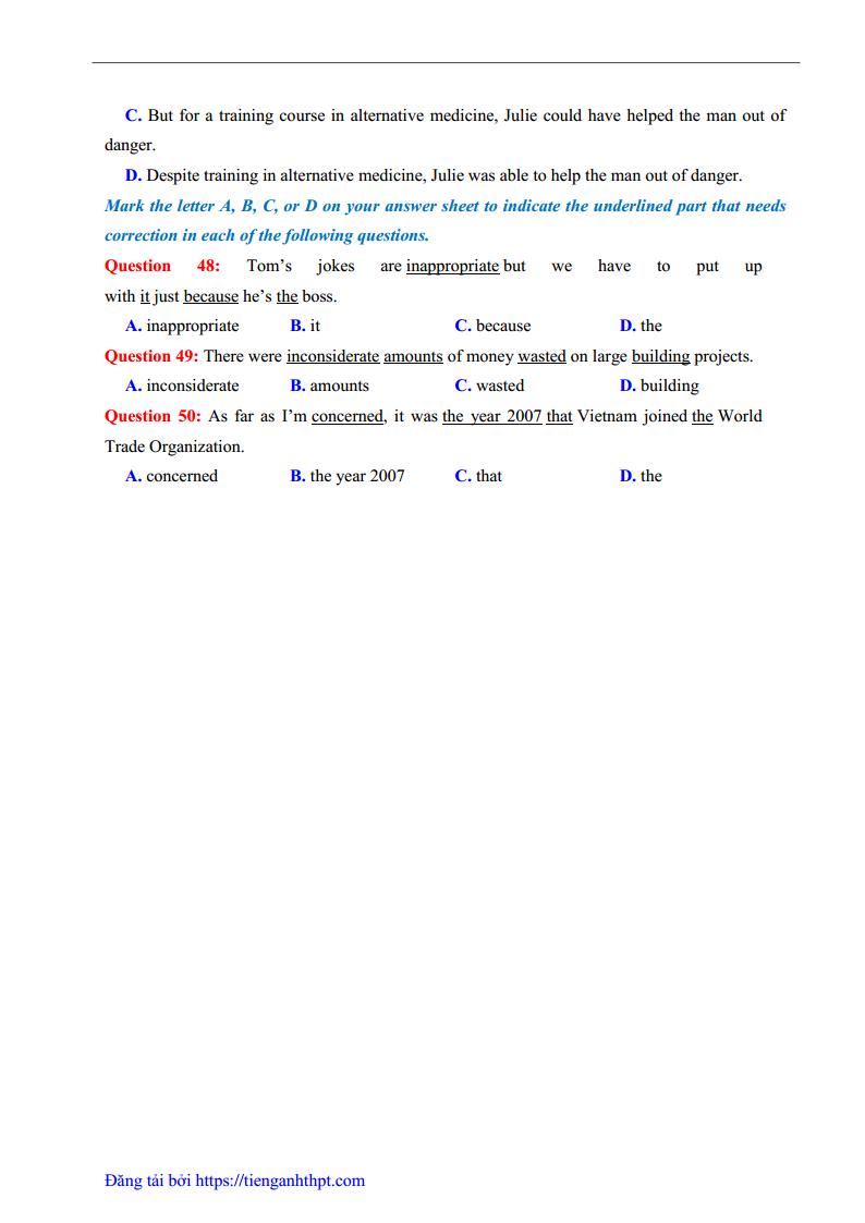 GIẢI CHI TIẾT Đề thi thử môn Anh THPT chuyên Quốc Học Huế lần 1 - 2018