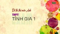 Đề thi thử môn Anh THPT Tĩnh Gia 1 - Thanh Hóa lần 1 - 2018