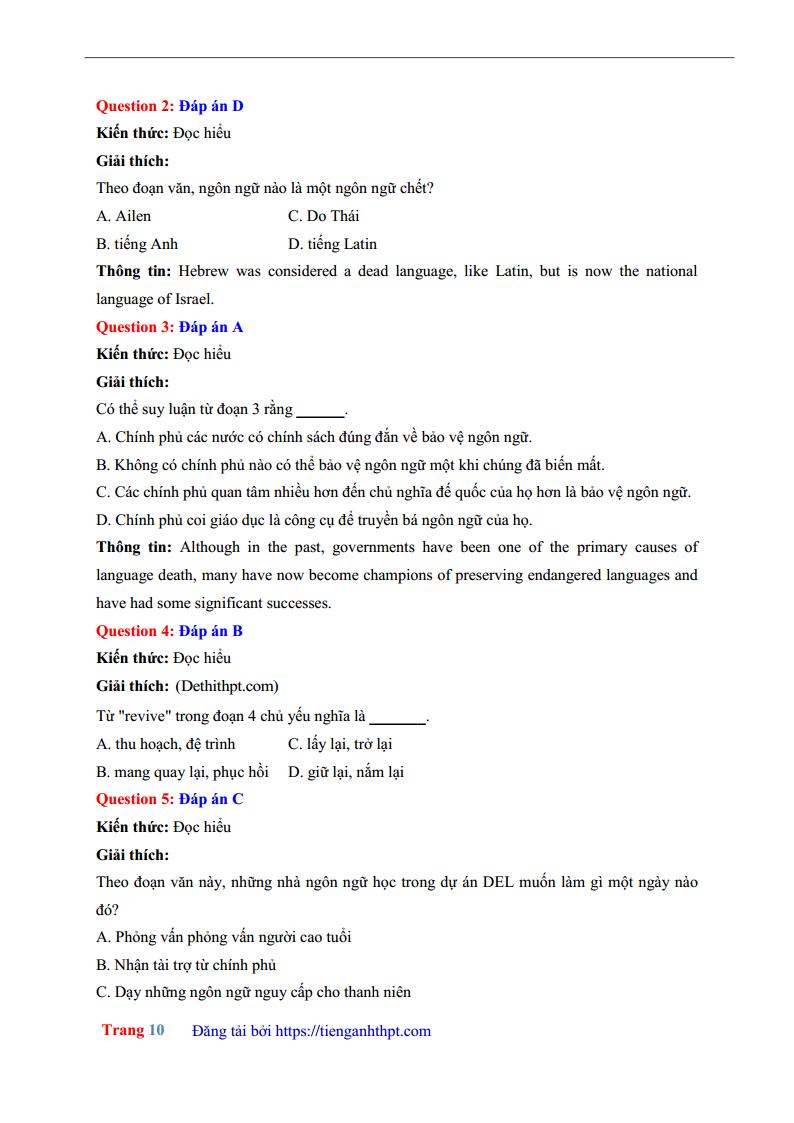 Giải chi tiết đề thi thử môn Anh THPT chuyên KHTN Hà Nội lần 1 - 2018