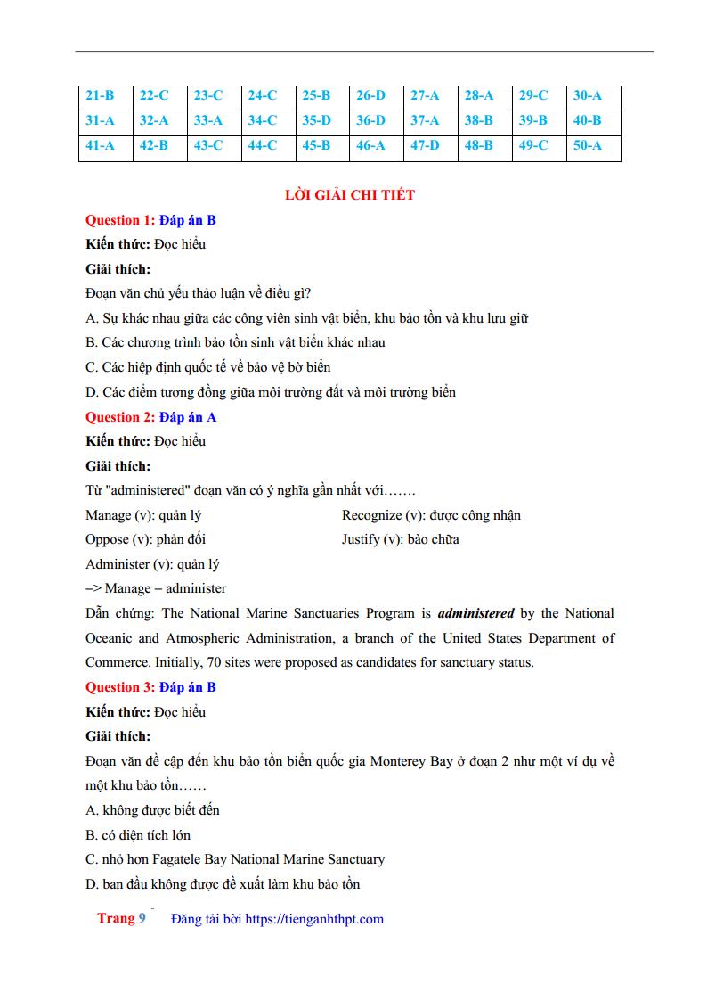 Đề thi thử môn Anh THPT Chuyên Biên Hòa - Hà Nam lần 1 - 2018