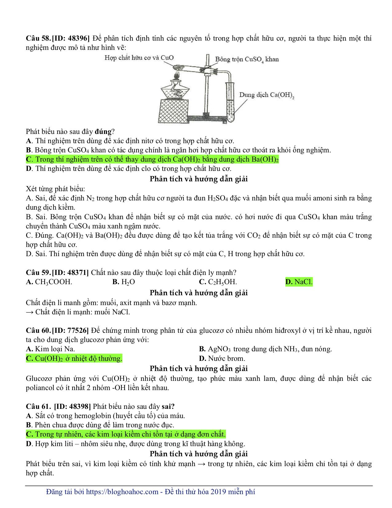 GIẢI CHI TIẾT Đề thi thử 2019 môn Hoá - Thầy Lê Phạm Thành - Đề số 1