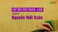 Đề thi thử môn Anh trường THPT Nguyễn Viết Xuân - Vĩnh Phúc lần 3 - 2019