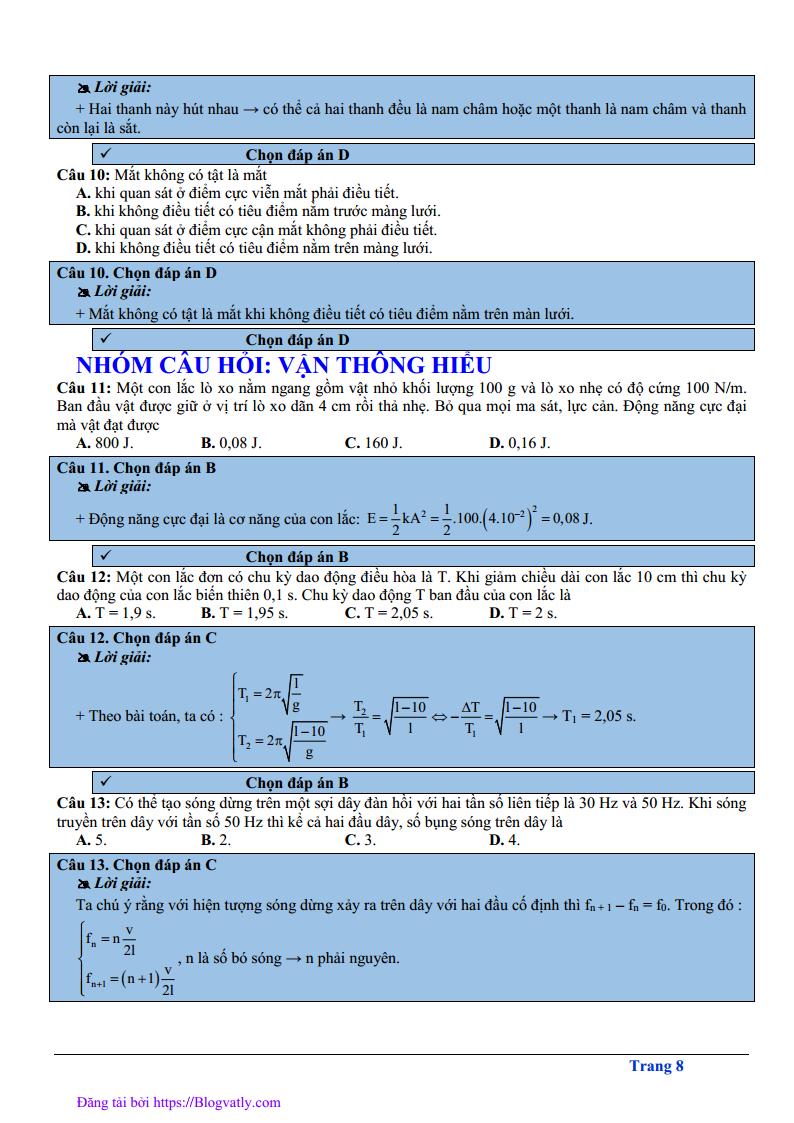 Đề thi thử môn Lý 2019 chuẩn cấu trúc của Bộ - có lời giải