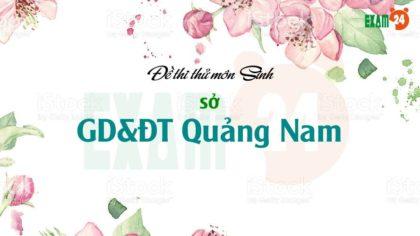 GIẢI CHI TIẾT đề thi thử môn Sinh 2019 sở GD&ĐT Quảng Nam lần 1