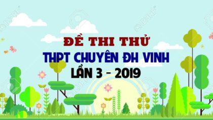 Đề thi thử môn Sinh trường THPT Chuyên ĐH Vinh lần 3 - 2019