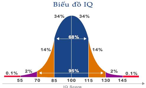 Biểu đồ Test IQ Miễn phí
