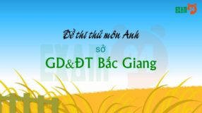 GIẢI CHI TIẾT đề thi thử môn Anh 2019 sở GD&ĐT Bắc Giang