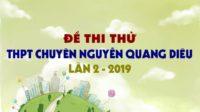 Đề thi thử môn Sinh trường THPT Chuyên Nguyễn Quang Diêu lần 2 - 2019