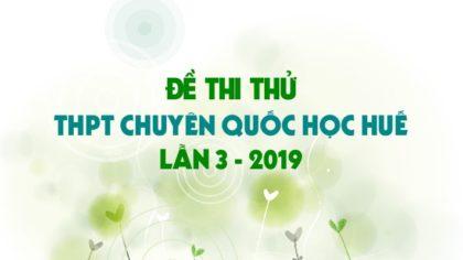 GIẢI CHI TIẾT Đề thi thử môn Sinh trường THPT Chuyên Quốc Học Huế lần 3 - 2019