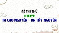 Đề thi thử môn Anh trường THPT TH Cao Nguyên - ĐH Tây Nguyên lần 3 - 2019