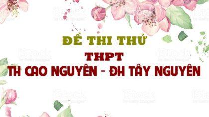 Đề thi thử môn sinh 2019 trường THPT TH Cao Nguyên - ĐH Tây Nguyên lần 3