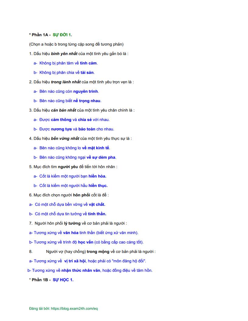 Bài kiểm tra EQ TIẾNG VIỆT  đề số 3 - CÓ ĐÁP ÁN