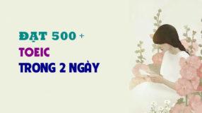 Đạt 500+ Toeic trong 2 ngày - May mắn hay thực lực