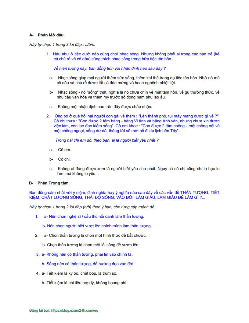 KIỂM TRA NHANH NHẤT Chỉ số EQ của bạn qua bài trắc nghiệm Test EQ số 2