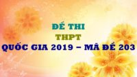 GIẢI CHI TIẾT Đề thi chính thức môn Hóa THPT Quốc Gia 2019 - mã đề 203