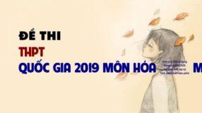 Giải chi tiết Đề thi chính thức THPT Quốc Gia 2019 môn Hóa – mã đề 217