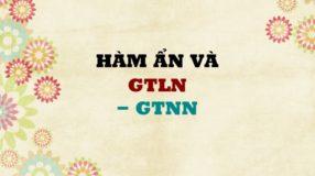 Chuyên đề Hàm ẩn liên quan đến GTLN – GTNN của hàm số có lời giải